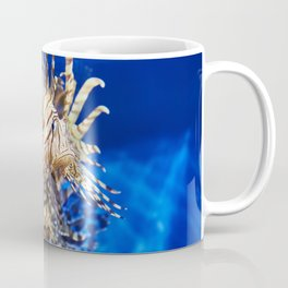 Poisonous lionfish in blue water sea Coffee Mug