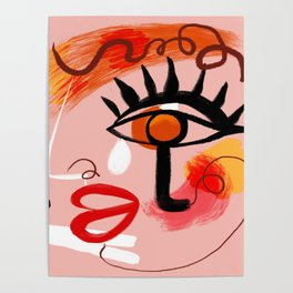 Face Blush Pink Abstract Poster