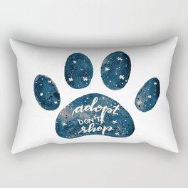 Adopt don't shop galaxy paw - blue Rectangular Pillow