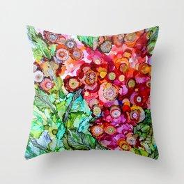 Des fleurs pour toi Throw Pillow