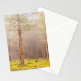 Scottish forest watercolor painting #1 Stationery Cards