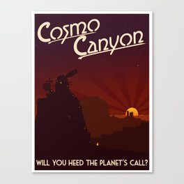 Final Fantasy VII - Cosmo Canyon Tribute Canvas Print
