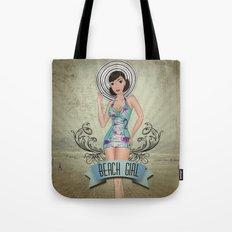 Beach Girl Pin-up Tote Bag