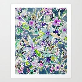 TALIA'S GARDEN Colorful Badass Floral Art Print
