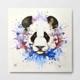 """Into the mirror"" n°3 The panda Metal Print"