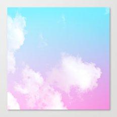 Pink Summer Clouds Canvas Print