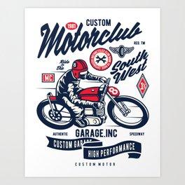 Garage inc - Motor club South West Art Print