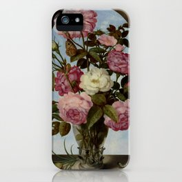 """Ambrosius Bosschaert the Elde """"Still Life with Roses in a Glass Vase"""" iPhone Case"""