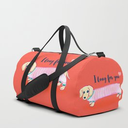 Valentine's Day dachshund dog Duffle Bag