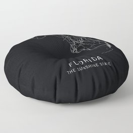Florida State Road Map Floor Pillow