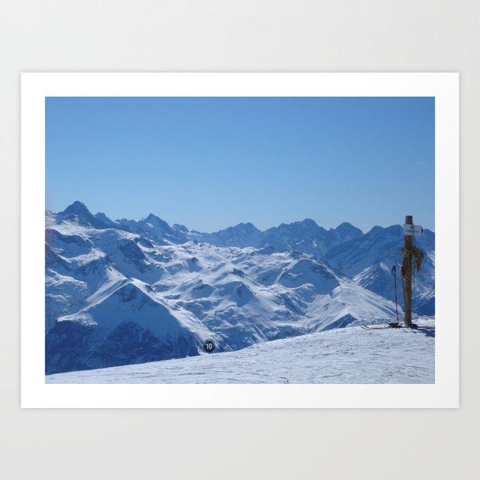 alpes.. Art Print
