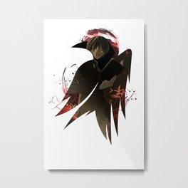 Raven's cloak Yagami cardboard dark Metal Print