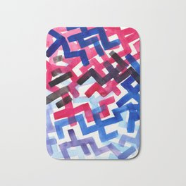 Colorful Watercolor Painting Pattern African tribal Pattern Abstract Art Mid Century Modern Bath Mat