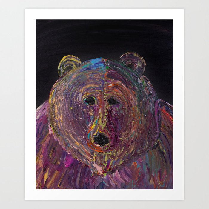 Grizzly Stare Art Print