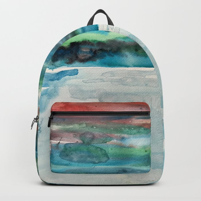 Miami Beach Watercolor #5 Backpack