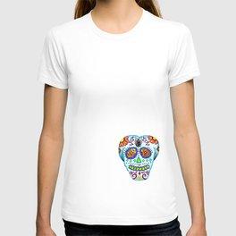 Sugar Skull Colored Pencil Sketch/Print T-shirt