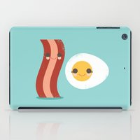 egg iPad Cases featuring Bacon and Egg Buds by Steph Dillon