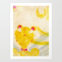sailor moon Art Prints featuring Sailor Moon by Art by Colin