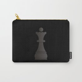 Black queen chess piece Carry-All Pouch