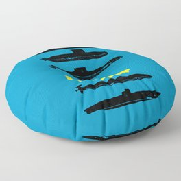 Know Your Submarines V2 Floor Pillow
