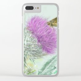 Thistle Clear iPhone Case