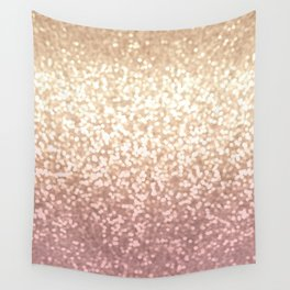 Champagne Gold Blush Pink Glittery Ombre Pattern #society6 Wall Tapestry