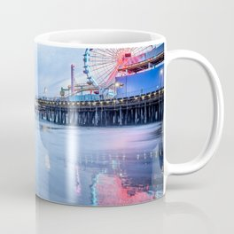 SANTA MONICA PIER OCEAN SUNSET LOS ANGELES CALIFORNIA Coffee Mug