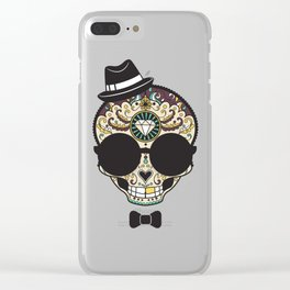 Blind Sugar Skull Clear iPhone Case
