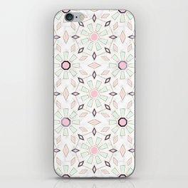 Modern gold Moroccan geometric flower marble image iPhone Skin