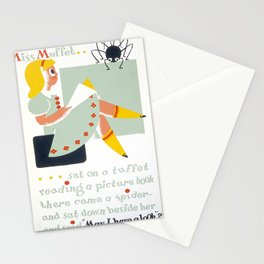 Vintage poster - Little Miss Muffet Stationery Cards