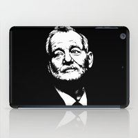 bill murray iPad Cases featuring Bill Murray by Laura Lindsey