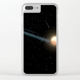 Artist's Impression - Tabby's Star with uneven orbiting ring of dust (2017) Clear iPhone Case