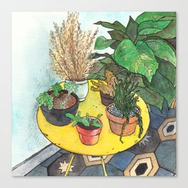 Yellow Table Canvas Print