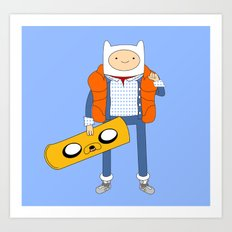 Marty McFinn & Jake the Hoverboard Art Print