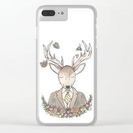 Mr. Deer Clear iPhone Case