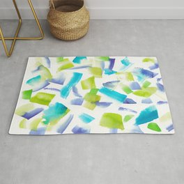 180719 Koh-I-Noor Watercolour Abstract 20 | Watercolor Brush Strokes Rug