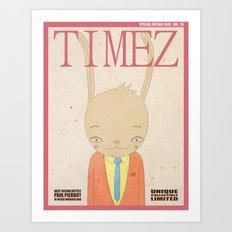 TIMEZ MAGAZINE HUG Art Print