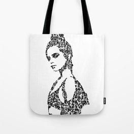 Kanji Calligraphy Art :woman's face #30 Tote Bag