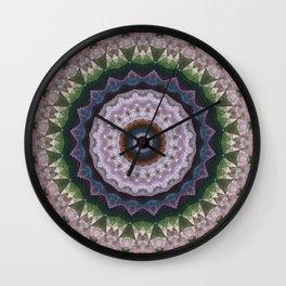 Marble kaleidoscope , mandala 2 Wall Clock