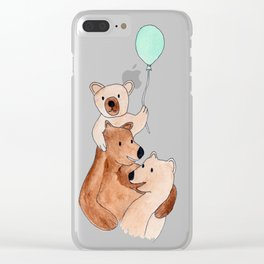 Three Bears Clear iPhone Case