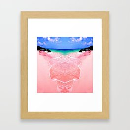 Elafonissi Chania Pink and Turquoise Sea Framed Art Print
