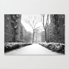 Snowy Day in Queens, New York City Canvas Print