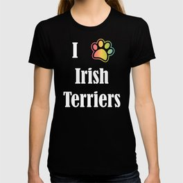 I Heart Irish Terriers | I Love Irish Terriers T-shirt