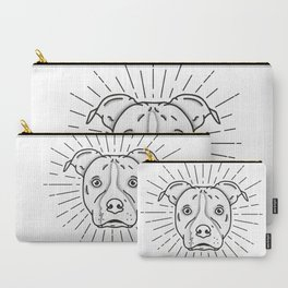 Radiant Dog Print - Black and White Carry-All Pouch