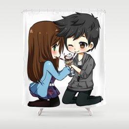 Cute Boyfriends Shower Curtain