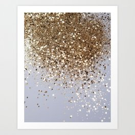 Sparkling Champagne Gold Glitter Glam #1 #shiny #decor #art #society6 Art Print