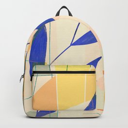 Shapes and Layers no.9 - Leaves and Grid Backpack