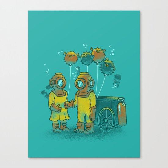 the BalloonFish Vendor Canvas Print