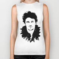 james franco Biker Tanks featuring james franco by looseleaf