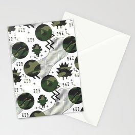 Trendy memphis style geometric pattern Stationery Cards